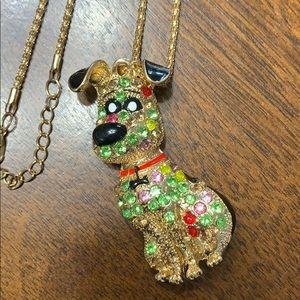 NEW Rhinestone Dog Necklace